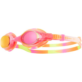 TYR Swimple Tie Dye Mirrored Goggles Kinderen, yellow/pink